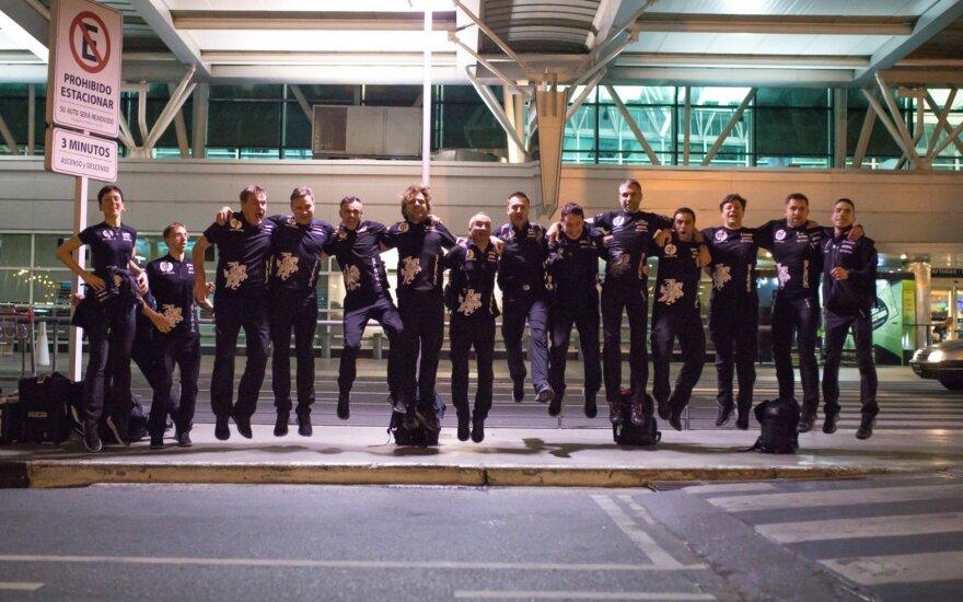 B. Vanago komanda pasiekė Argentiną