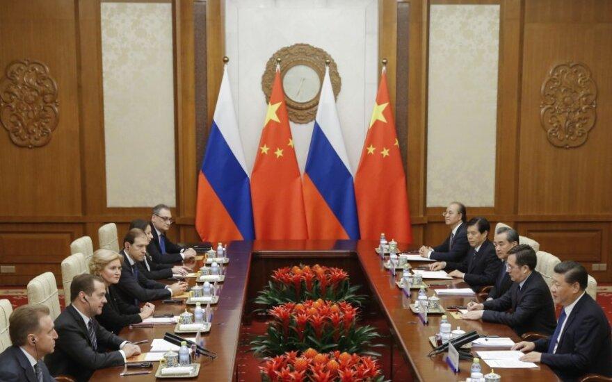 Rusijos ir Kinijos premjerų susitikimas