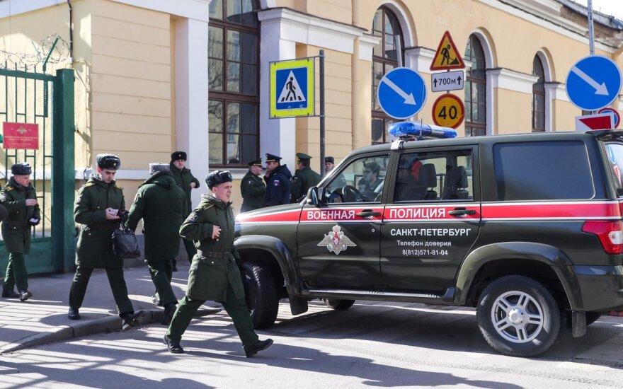Sankt Peterburge per sprogimą karo akademijoje sužeisti keturi kariūnai