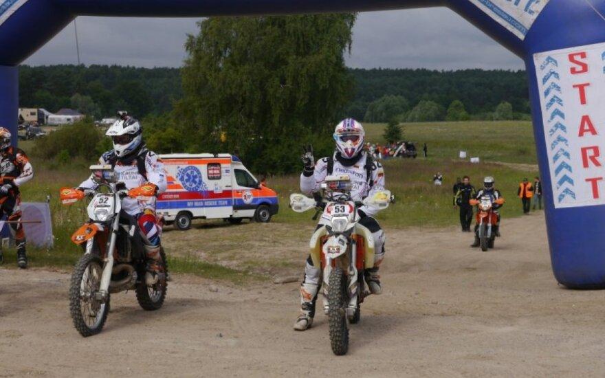 """Du lietuviai motociklininkai startavo """"Breslau"""" ralyje"""