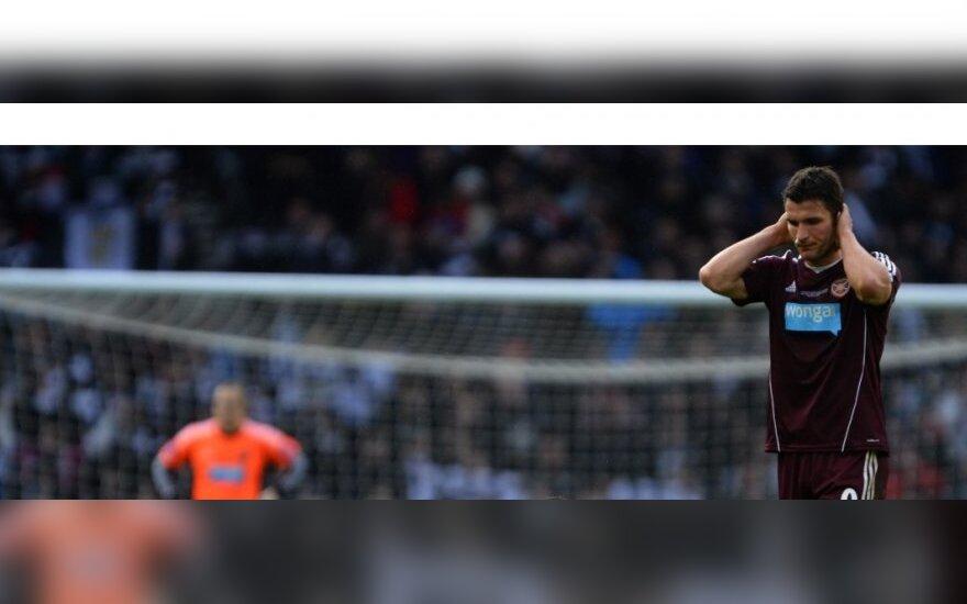 "Edinburgo ""Hearts"" klubas pralaimėjo"