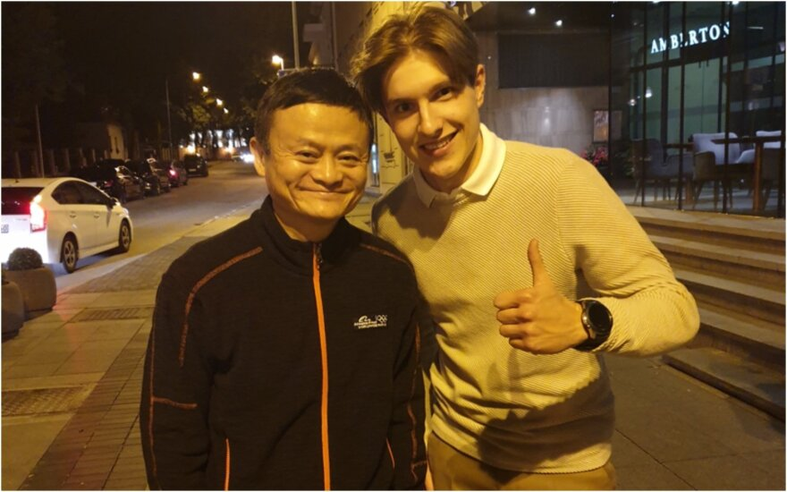 Titas Jurkonis ir milijardierius Jackas Ma.