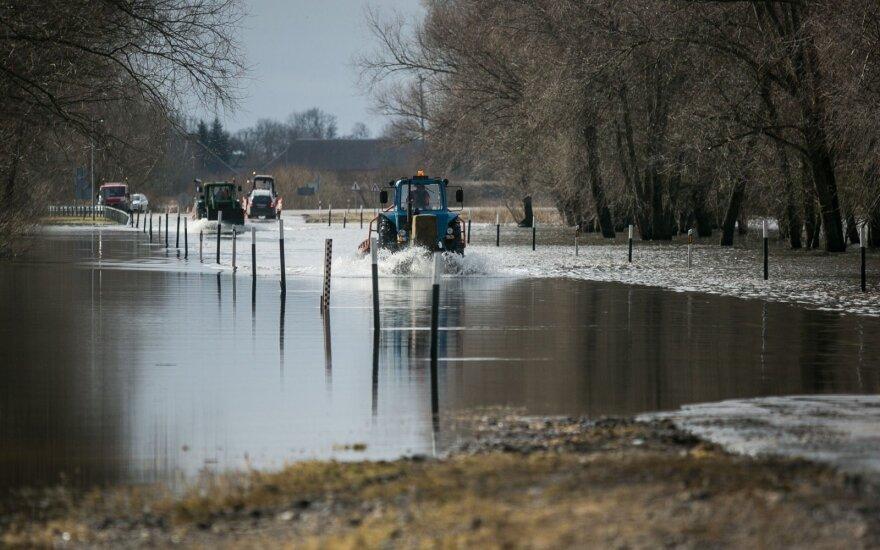 Šilutės rajone ekstremali padėtis: vandens lygis viršija metrą