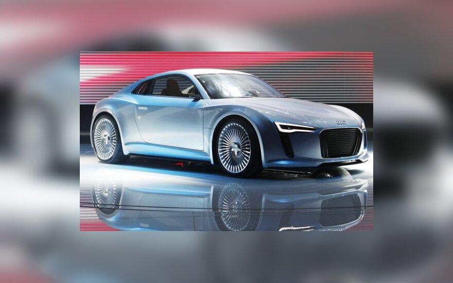Audi e-tron Detroito automobilių parodoje