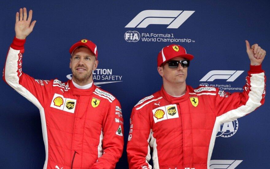 """""""F-1"""" kvalifikaciją Kinijoje laimėjo """"Ferrari"""" lenktynininkai"""