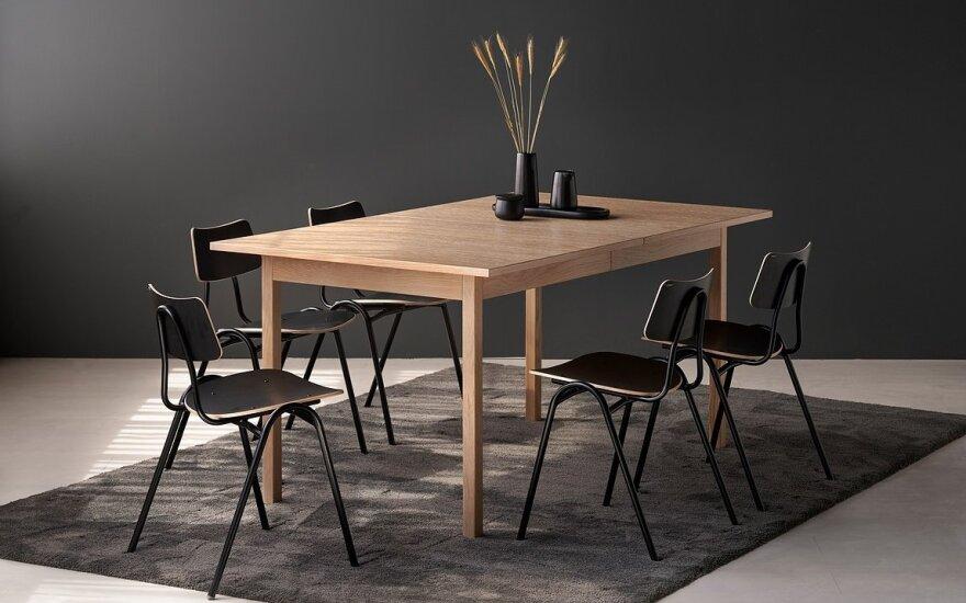 """Išskleidžiamas valgomojo stalas """"Eko"""" (ISKU nuotr.)"""