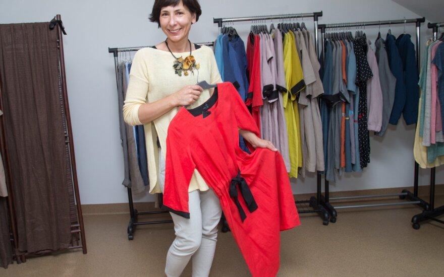 Kauniečių kuriami lininiai drabužiai Lietuvoje jau nebeišsitenka