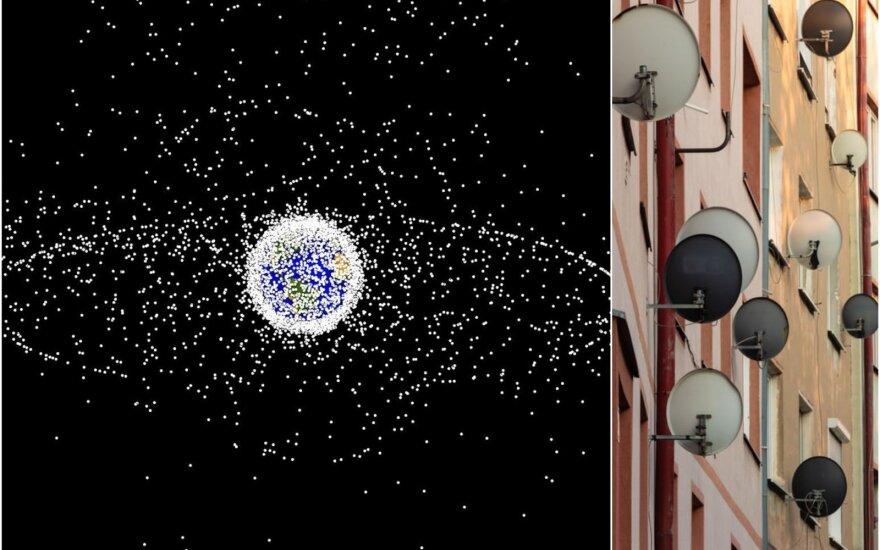 """""""Starlink"""" ir palydovinės antenos"""