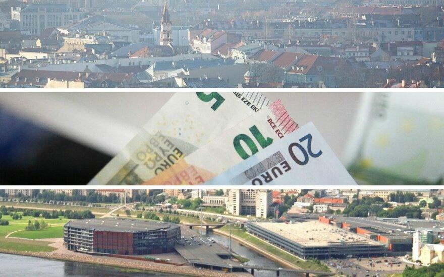 Išlaidos Vilniuje ir Kaune