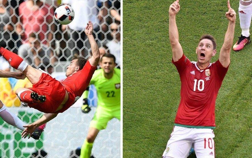 Absurdas: gražiausiu Euro 2016 įvarčiu tapo ne Xh. Shaqiri, o vengro smūgis