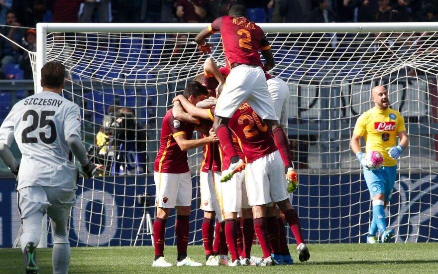 """""""Roma"""" įveikė """"Napolį"""", """"Juventus"""" – vėl Italijos čempionas"""