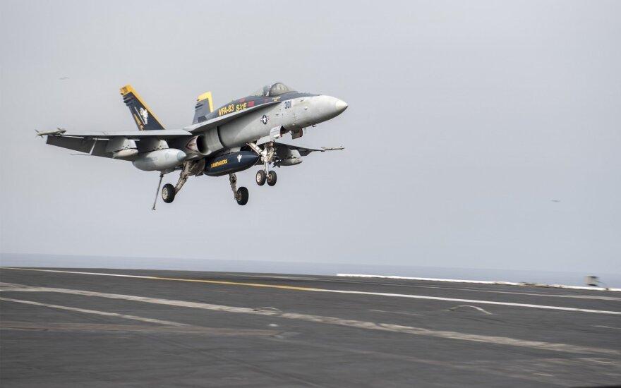 JAV jūrų pėstininkų karo lėktuvas F/A-18C