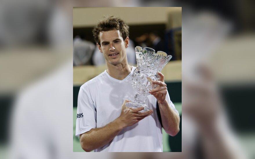 Škotijos tenisininkas laimėjo tarptautinį vyrų teniso turnyrą JAE