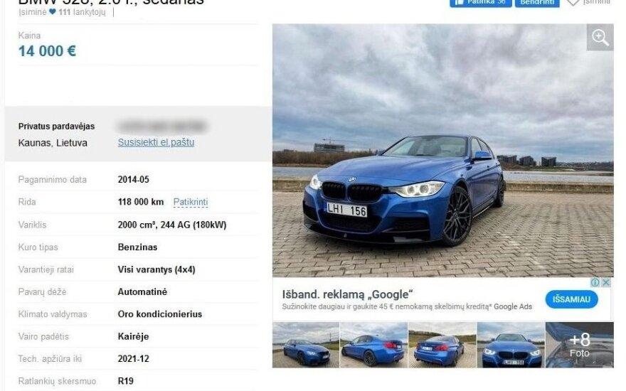 Iš JAV į Lietuvą parvežtas naudotas BMW pašiurpino specialistus