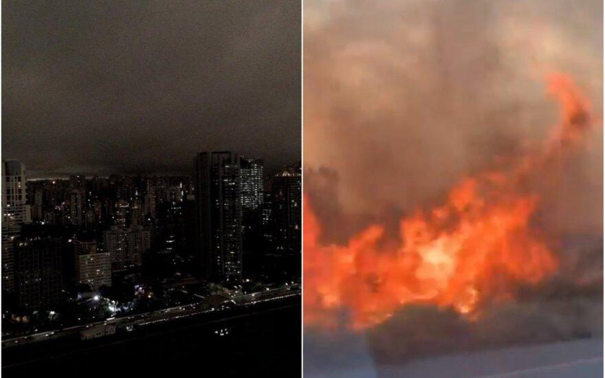 """""""Artėja paskutiniojo teismo diena"""": gyventojus išgąsdino žaibiškai užtemęs miestas"""