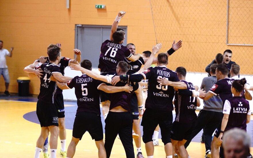 Latvijos rankinio rinktinė (Foto: handball.lv)