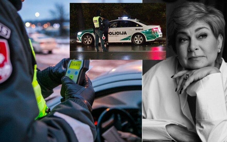 Neblaivi prie vairo sulaikyta Edita Mildažytė /Foto: Lukas Gricius, Delfi