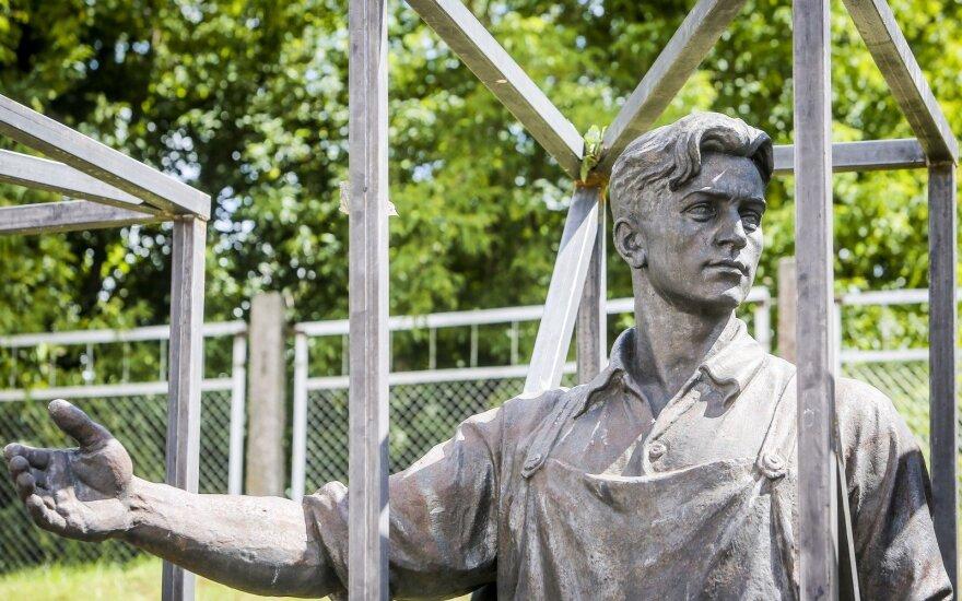 One of the Green Bridge sculptures