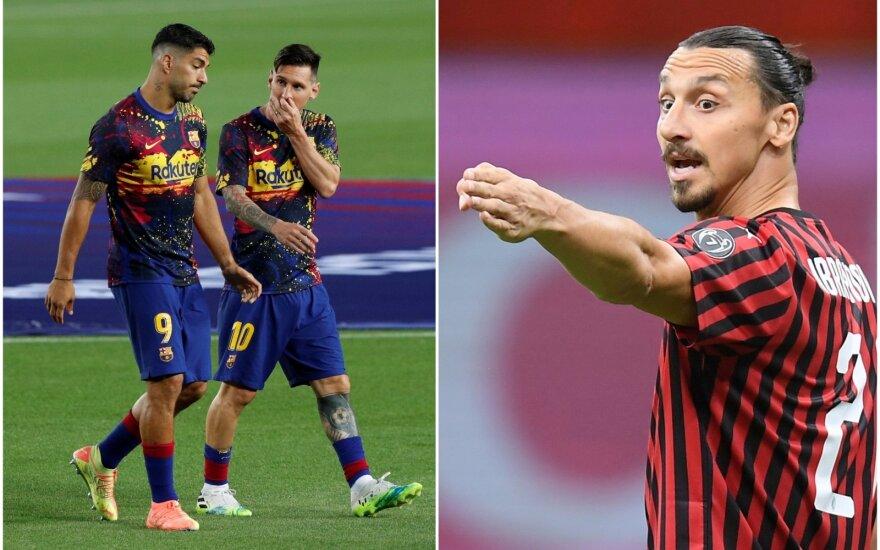 (iš kairės) Luisas Suarezas, Lionelis Messi, Zlatanas Ibrahimovičius
