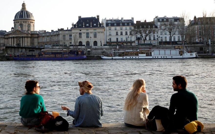 Prancūzijos ekonomika pirmą metų ketvirtį augo 0,4 proc.