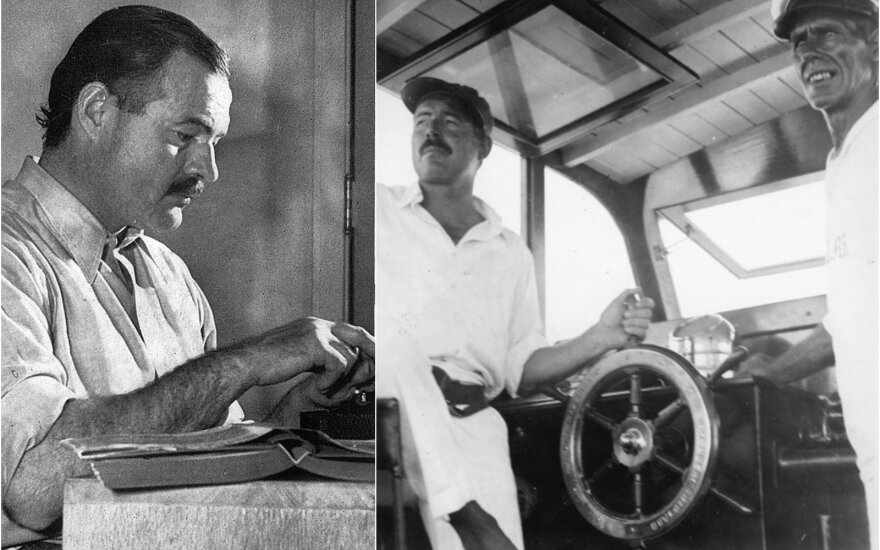 "Ernest Hemingway 1939 m. / Jachtoje ""Pilar"""