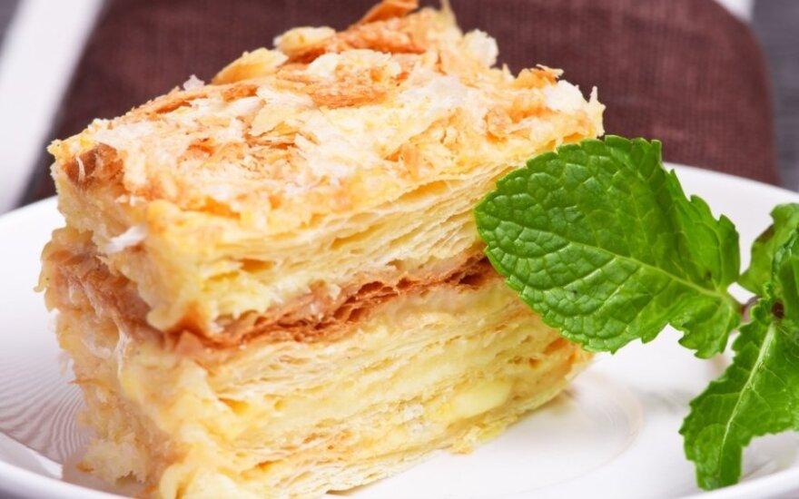 Sluoksniuotas pyragas su Rududu kremu