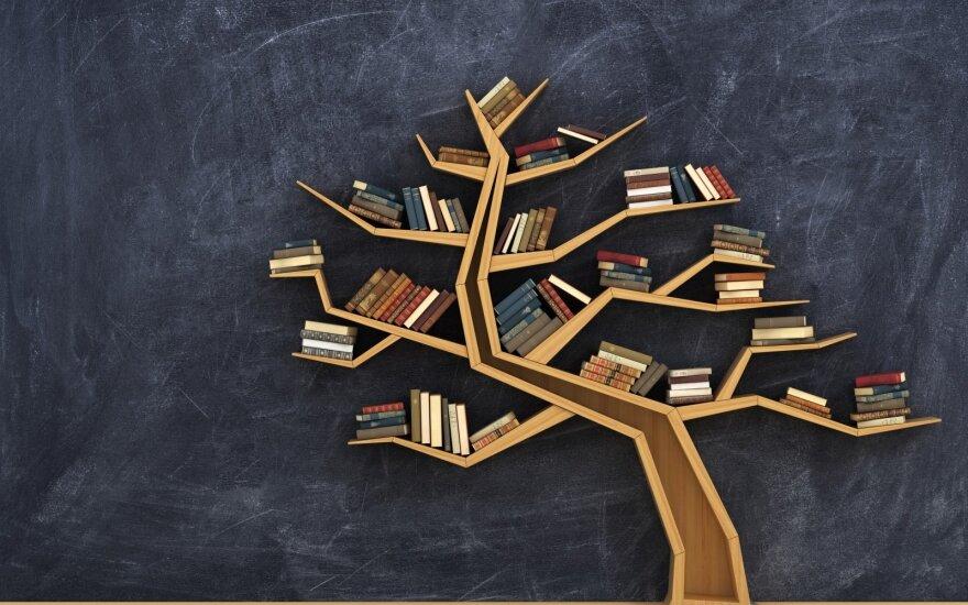 Kaip knygas paversti interjero puošmena