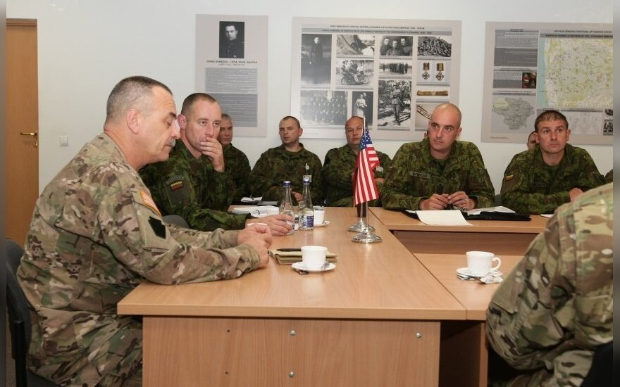 Leadership of Pennsylvania National Guard NCO corps in Lithuania. Photo KAM