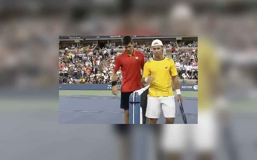 Novakas Djokovičius ir Ričardas Berankis