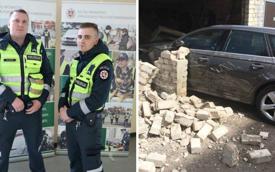 Į nelaimę patekusi moteris negailėjo gerų žodžių policijai: tokių pareigūnų dar neteko sutikti