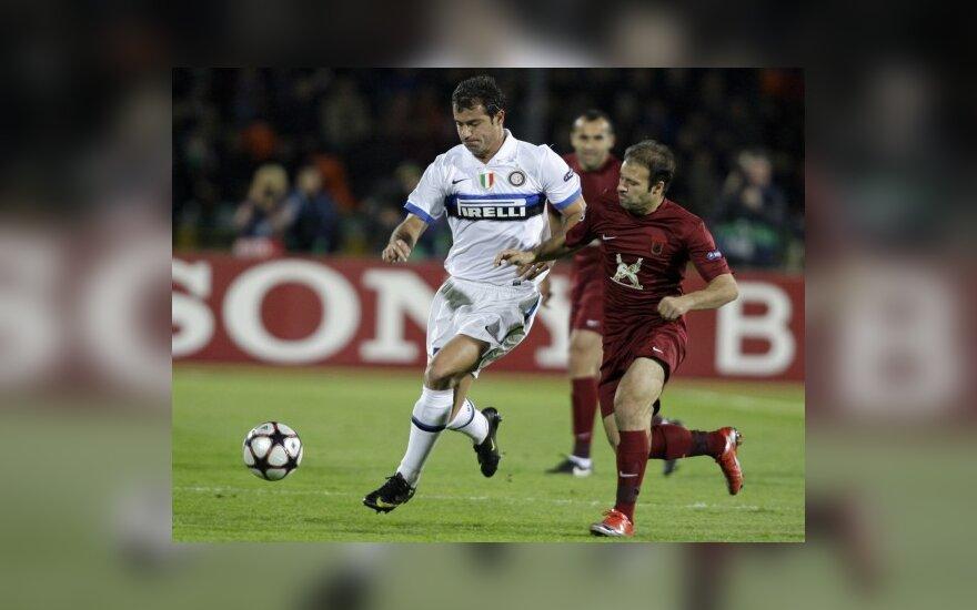 """Antras turas prasidėjo """"Rubin"""" ir """"Inter"""" klubų lygiosiomis (visi rezultatai)"""