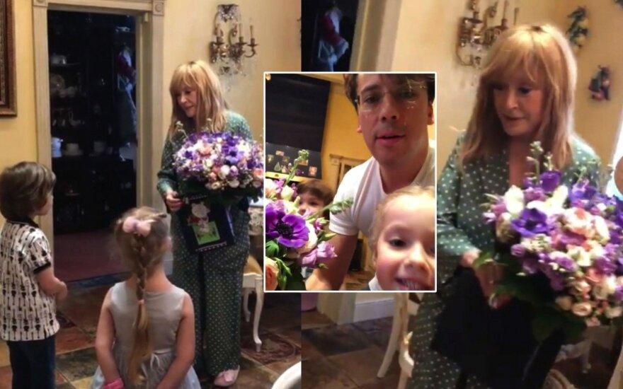 Šeima sveikina Alą Pugačiovą su gimtadieniu