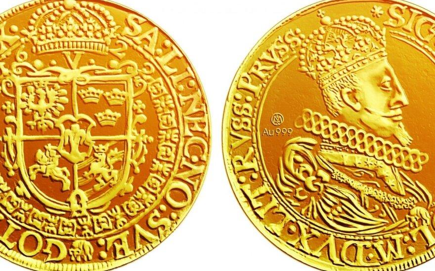 10 auksinių dukatų monetos replika