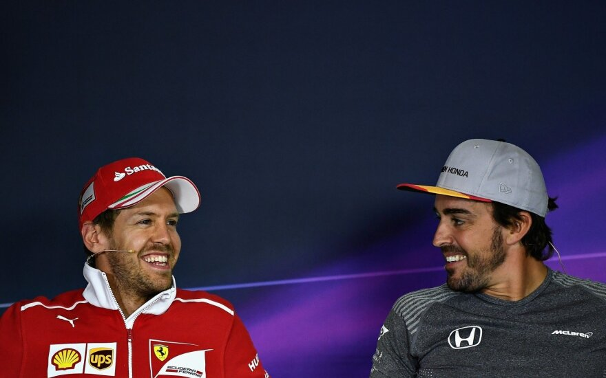 Sebastianas Vettelis, Fernando Alonso