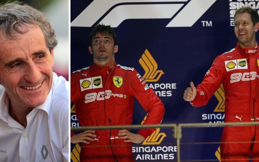 Alainas Prostas, Charlesas Leclercas ir Sebastianas Vettelis