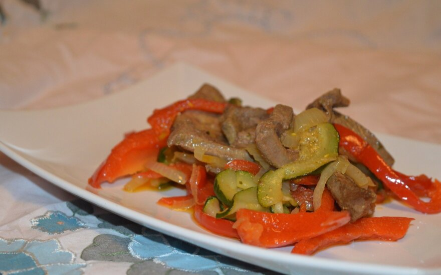 Kepenėlės su daržovėmis