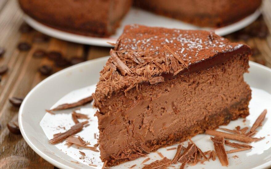 Dietinis šokoladinis sūrio pyragas patiks ne tik norintiems sulieknėti
