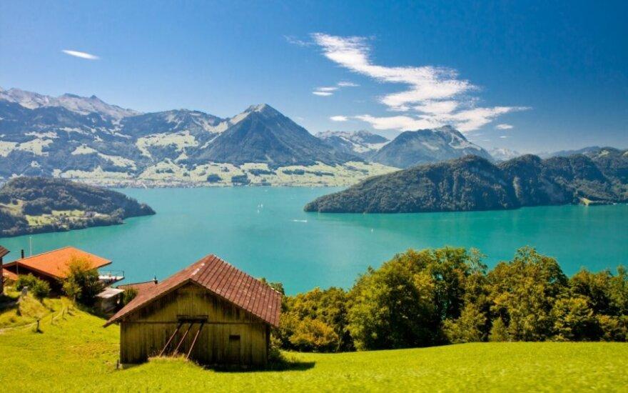 Liucernos ežeras, Šveicarijos Alpės