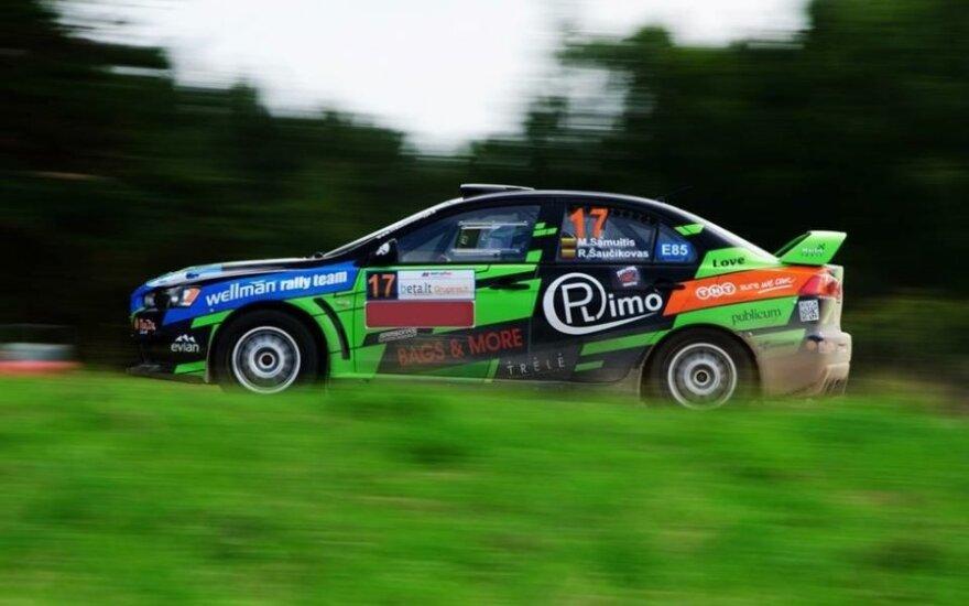 """Wellman Rally Team"" komandos ""Mitsubishi Lancer Evo X""  (A.Venskaus nuotr.)"