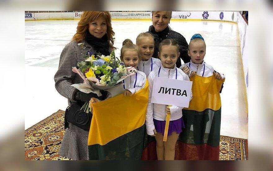 Lietuvaičių pergalės tarptautinėse dailiojo čiuožimo varžybose Baltarusijoje
