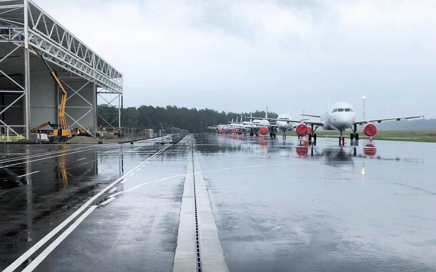 Kauno oro uoste baigta perono plėtros dalis ir gaisrinės pastato rekonstrukcija