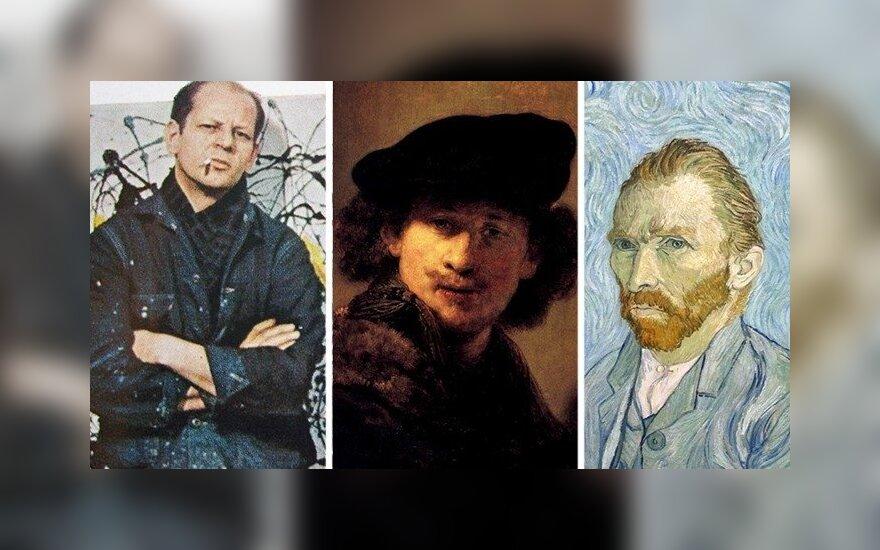 Jacksonas Pollockas, Rembrandtas, Vincentas van Goghas