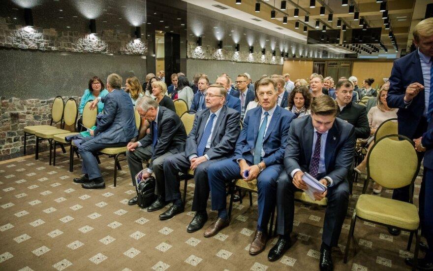 At a Social Democratic Party Presidium seating