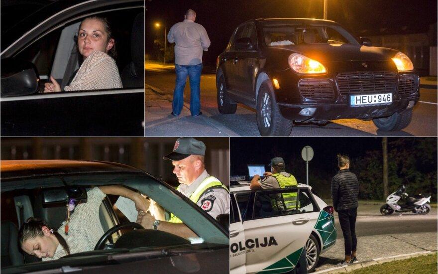"""Naktinis reidas: girta """"Porsche"""" vairuotoja su vaiku ir vėl pasižymėjęs """"CityBee"""""""