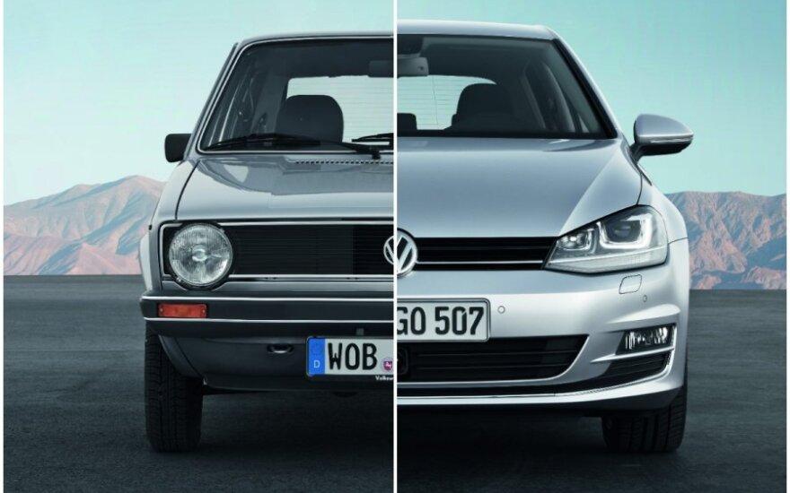Pirmos ir septintos kartos Volkswagen Golf