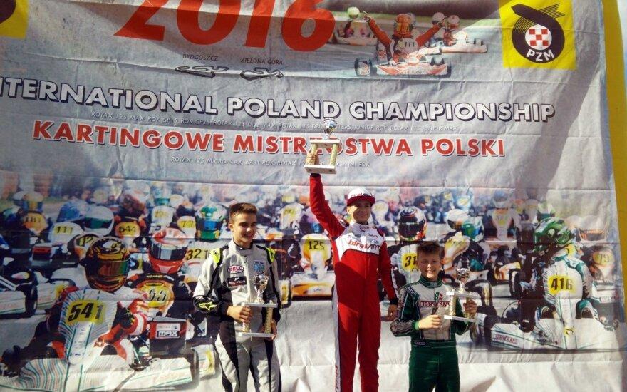 G. Grinbergas dominuoja Lenkijos kartingo trasose