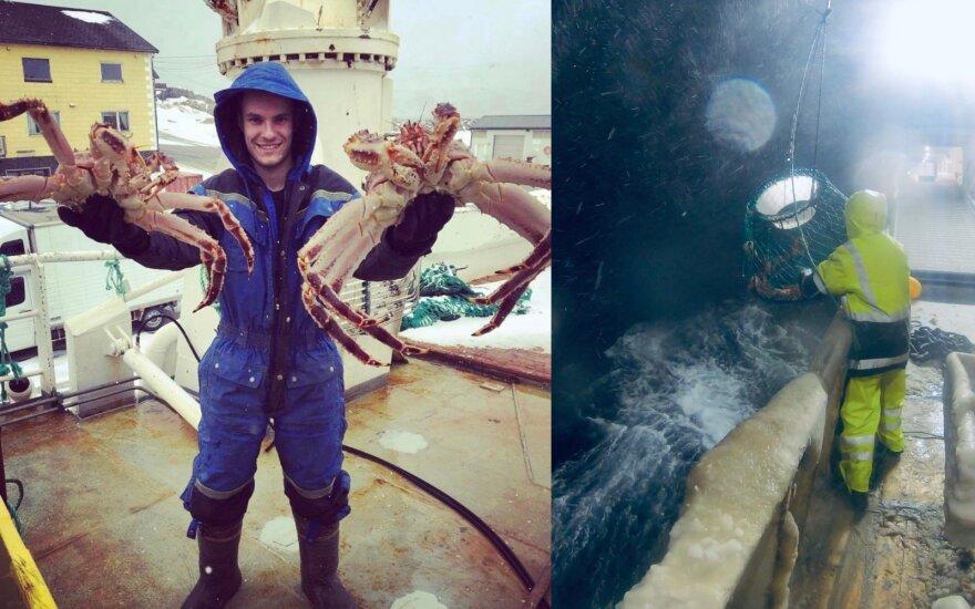 Krabų gaudytojų gyvenimas iš arti: pusmetį praleisti ledinėje ir tamsioje jūroje ryžtasi dėl solidžios algos