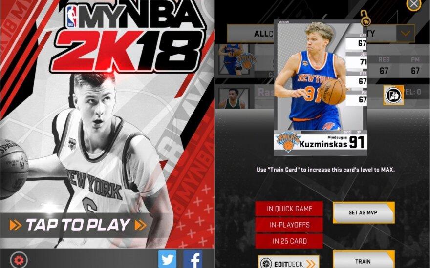 Kristapas Porzingis, Mindaugas Kuzminskas NBA žaidimuose