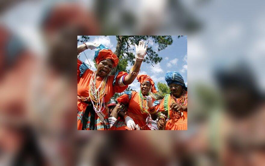 Pietų Afrikos Respublikos moterys švenčia