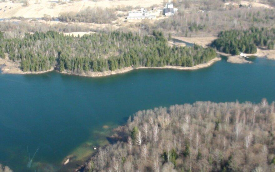 Vaizdas iš aplinkosaugininkų sraigtasparnio